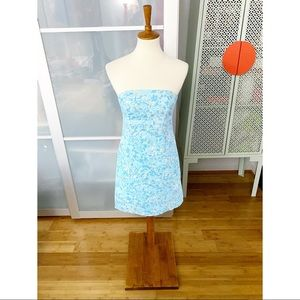 Lilly Pulitzer Strapless Dress in Kiss the Cook